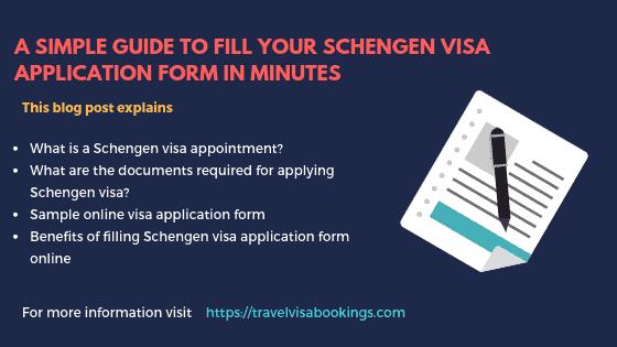 Fill Schengen visa application