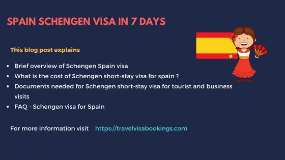 Get Spain Schengen Visa in 7 days