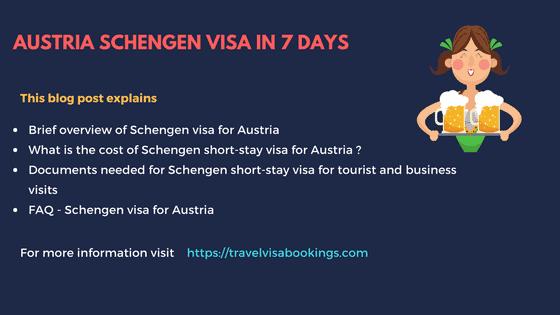 Austria Schengen Visa in 7 Days (Updated 2019)