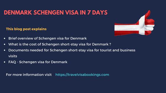 Denmark schengen visa in 7 days