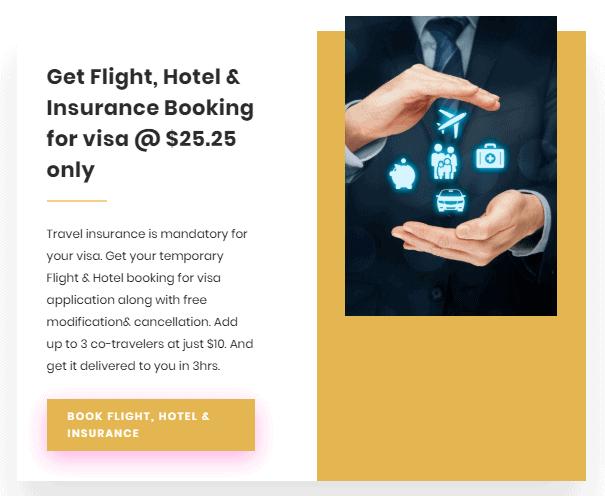 Flight,hotel and insurance