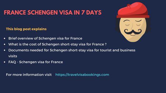 France Schengen Visa in 7 days