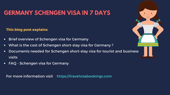Germany Schengen visa in 7 days