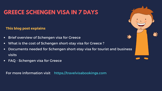 Greece Schengen visa in 7 days (Updated 2019)
