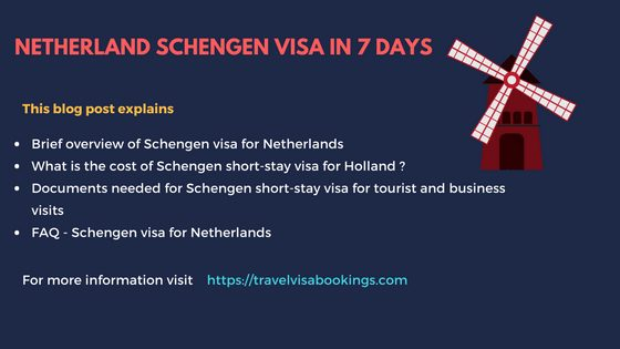 Netherland schengen visa in 7 days updated 2018 altavistaventures Images