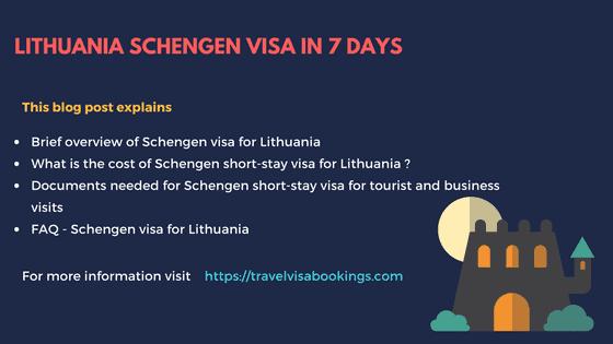 Lithuania Schengen visa in 7 days