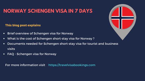 Norway schengen visa in 7 days updated 2018 altavistaventures Gallery