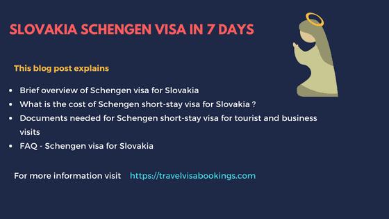 Slovakia Schengen Visa in 7 Days(Updated 2020)
