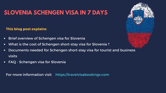 Slovenia Schengen visa