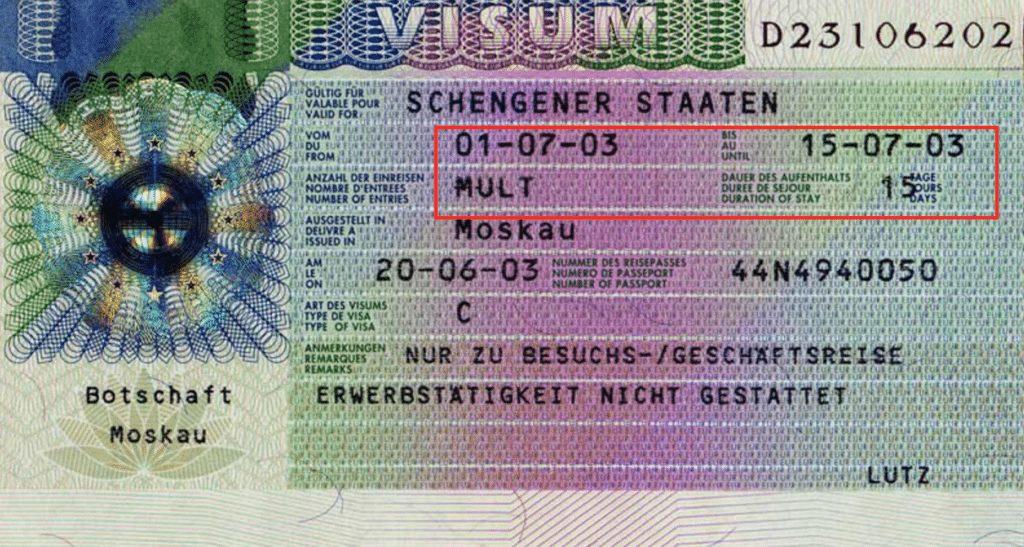 Schengen Visa copy