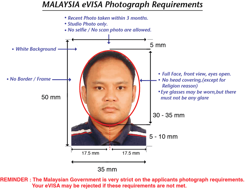 malaysia evisa photo requirements