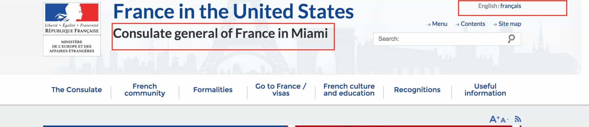 France visa for us permanent residents easy guide if the language is by default selected as french and you want the website in english then select english as highlighted in red aiddatafo Gallery