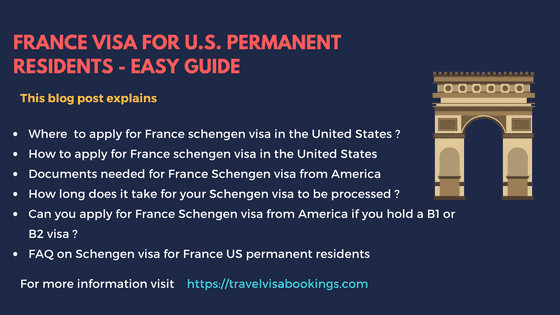 France visa for U.S. Permanent Residents – Easy Guide