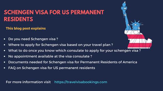 Schengen Visa for US permanent residents