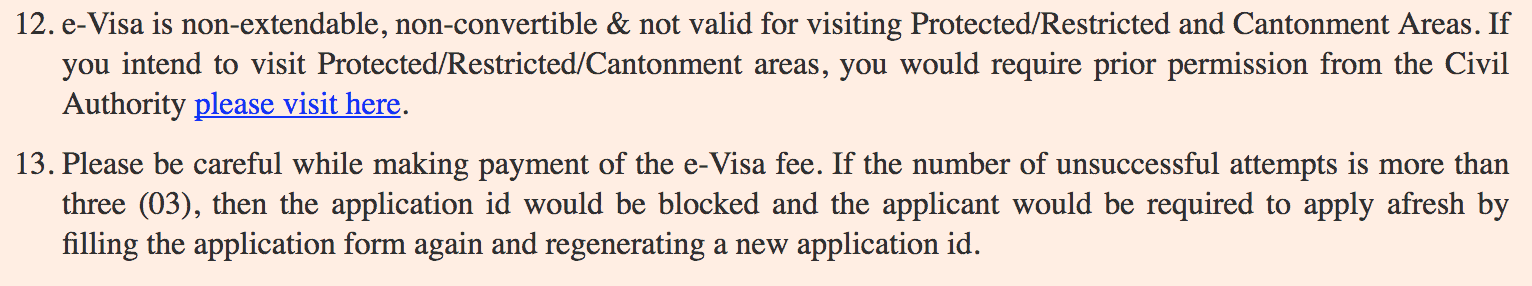 India visa payment gateway failed