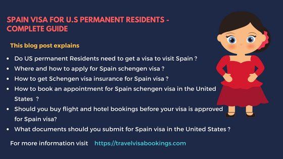 Spain Visa for U.S Permanent Residents