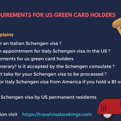 Italy visa requirements for US green card holders