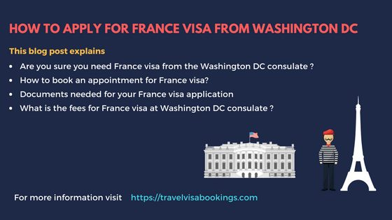 How to apply for France visa from Washington DC