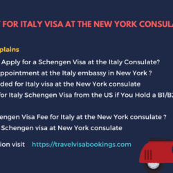 Italy visa requirements for New york