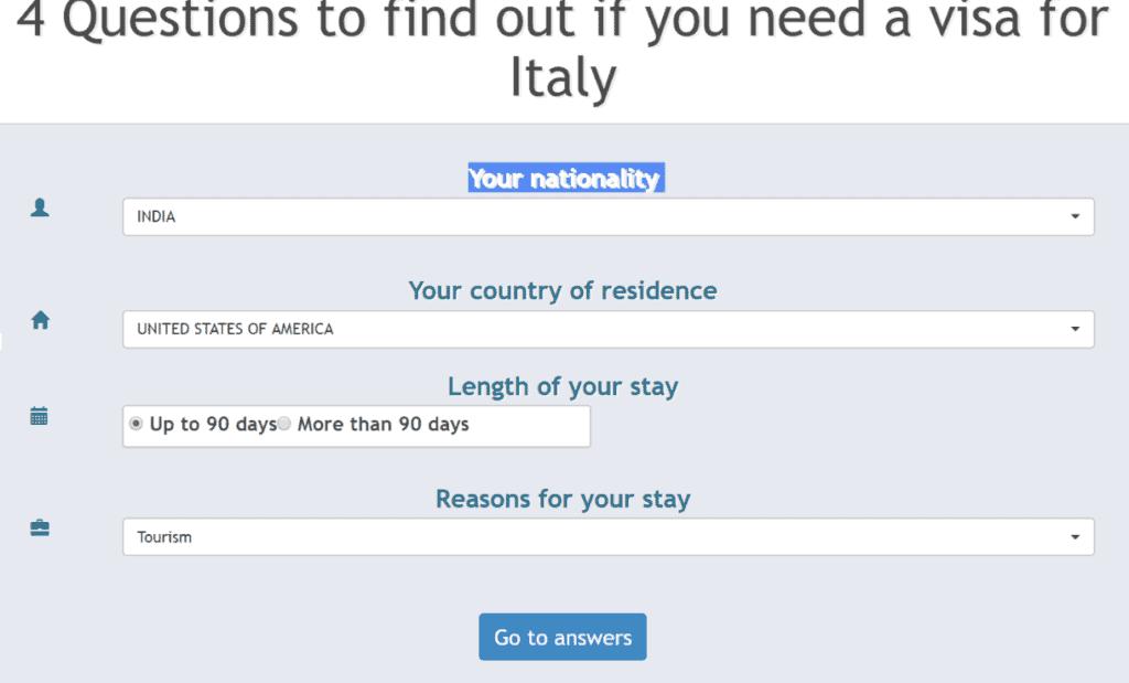 do you need italy visa new york