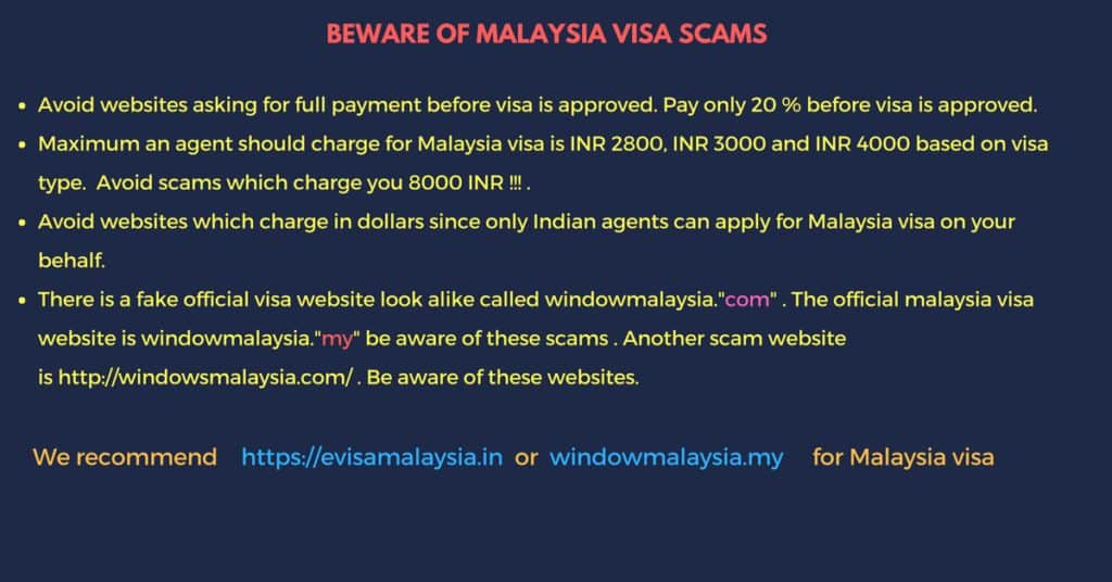 Beware of malaysia visa scammers