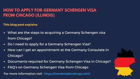 How to Apply for Germany Schengen Visa at the Chicago Consulate?