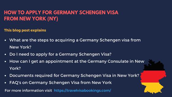 Germany Schengen Visa from New York