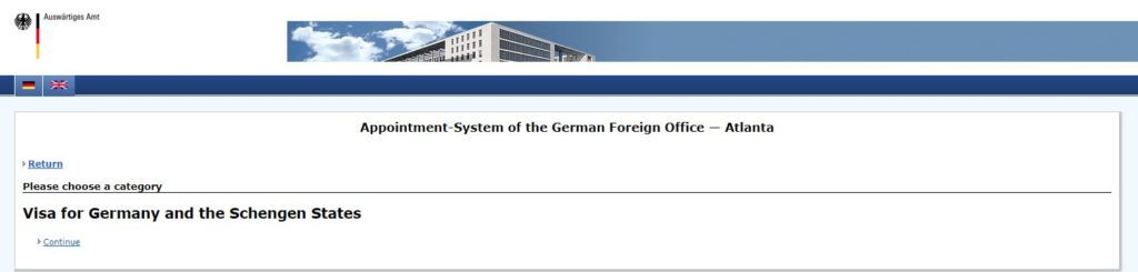 German Consulate Atlanta Booking appointment on line