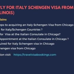 How To Apply For Italy Schengen Visa From Chicago (Illinois)