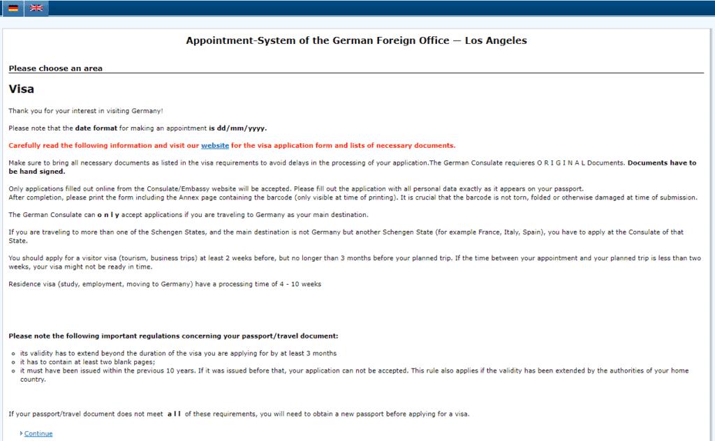 LA visa application procedure 1