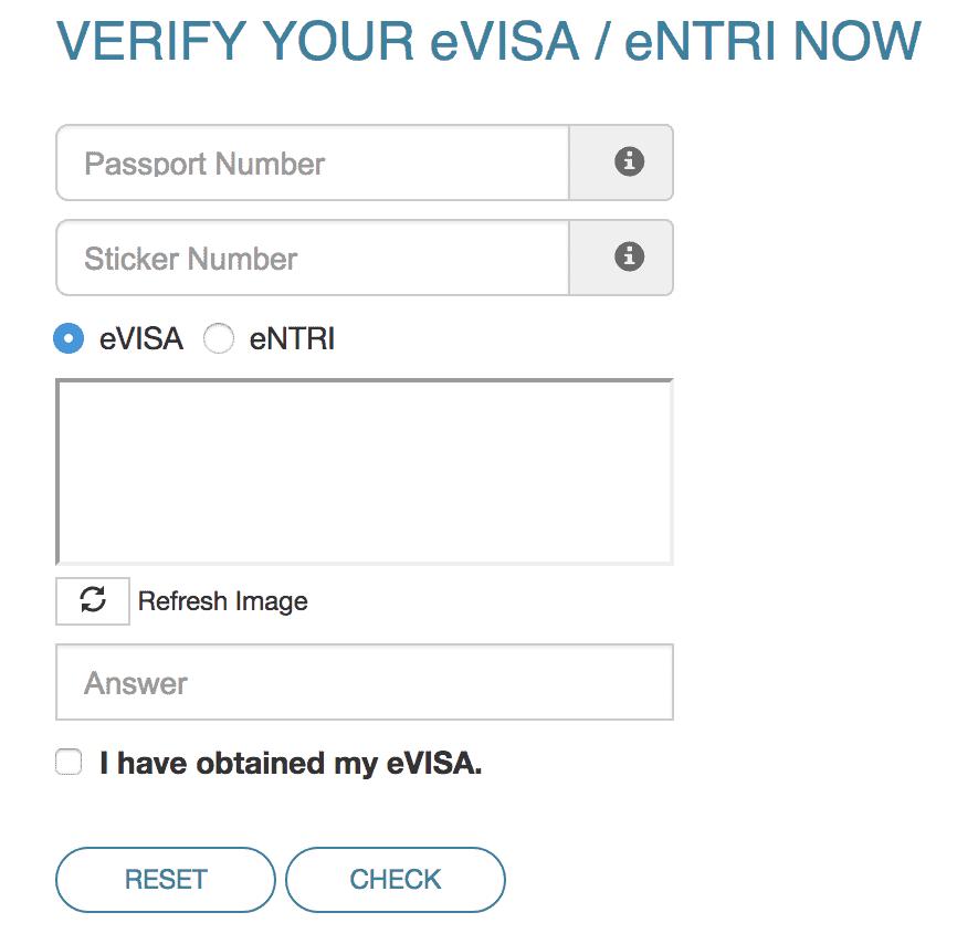 Verify Malaysia visa