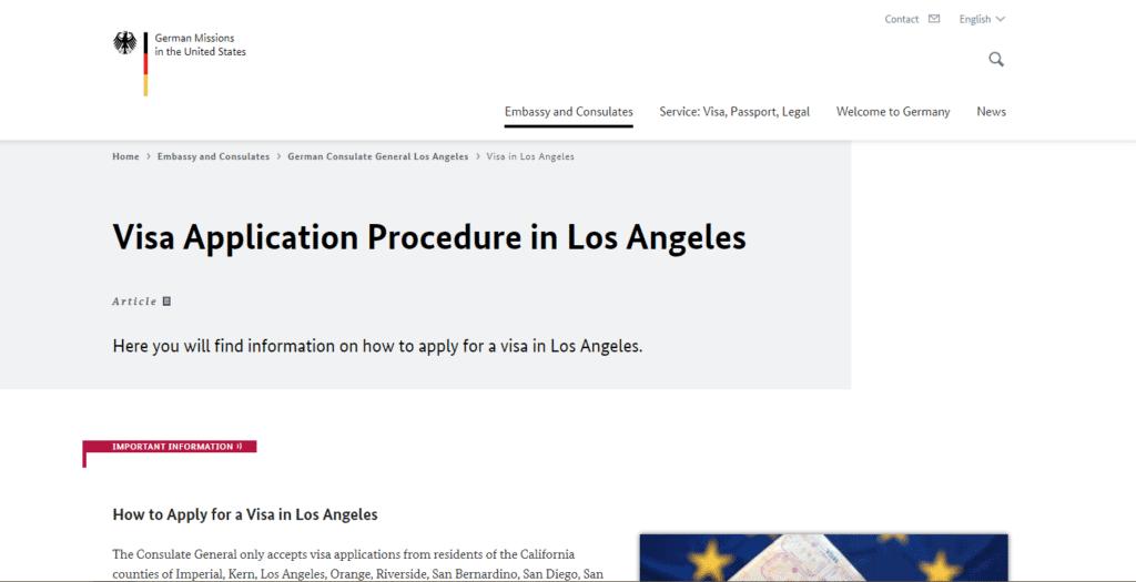 Visa application procedure LA