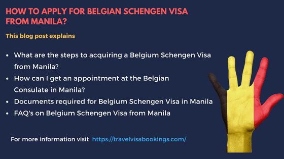 Belgium Schengen visa from Manila