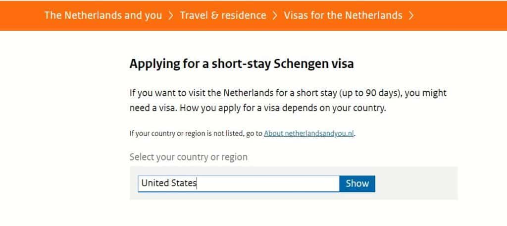 Applying for a short-visa stay