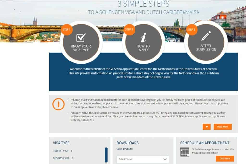 How to apply for your Netherlands Schengen Visa from San