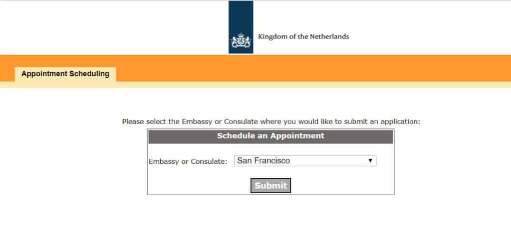 number of applicants' and 'application category' - consulate general of Netherlands in San Francisco