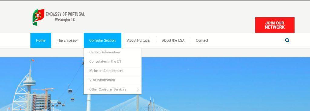 Visa Information, embassy of Portugal in Washington DC