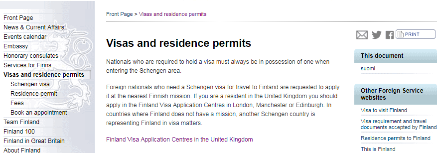 Visas and residence permits - embassy of Finland in London