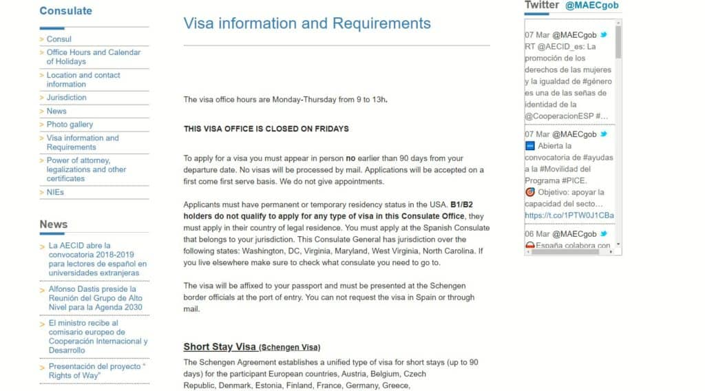 How I Applied For A Spain Schengen Visa From Washington Dc