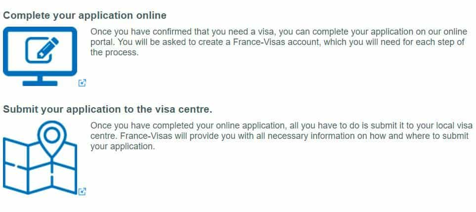 Booking appointment online/Submitting application to the visa center - France Schengen Visa from Chicago