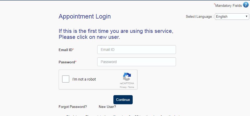Appointment login - Austria Schengen visa from London