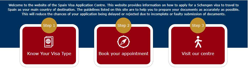 Official Spain Schengen visa application from Manila website
