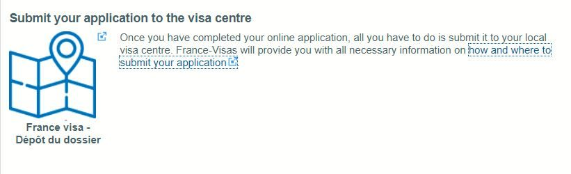 Submit your Application to the Visa Center