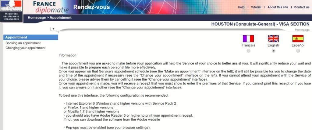 France Diplomatie website - Houston