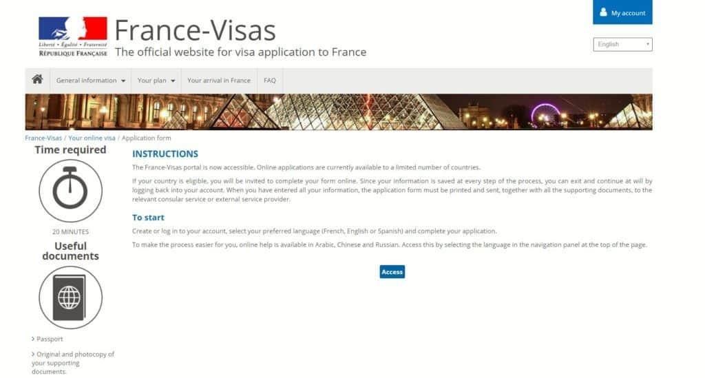 France-visas portal