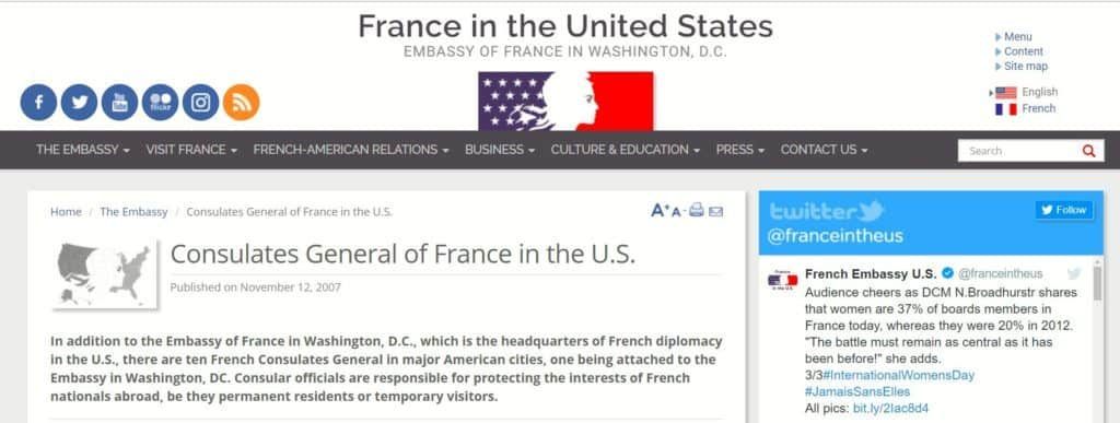 France in the US