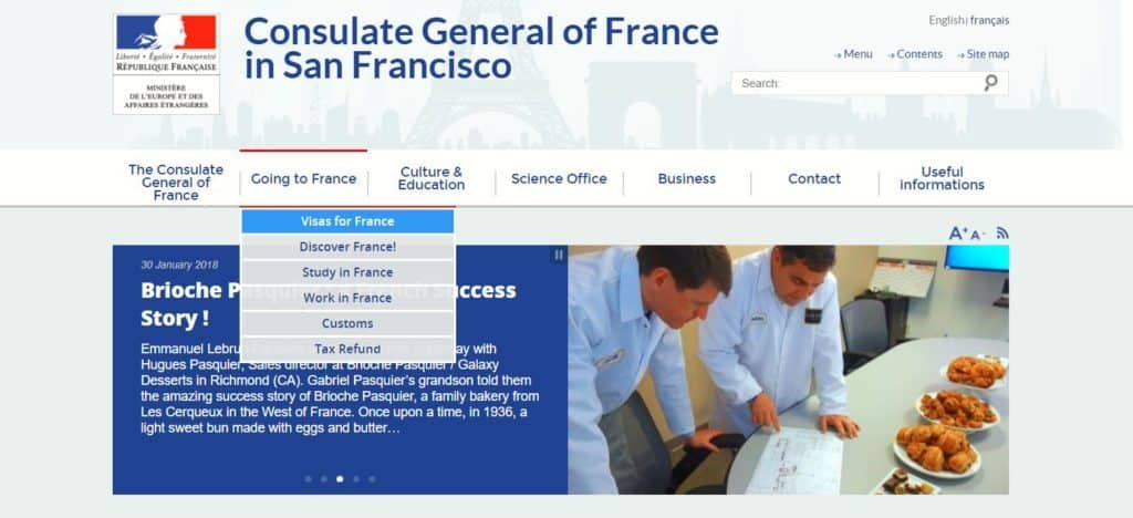 Official website of Consulate General of France in San Francisco
