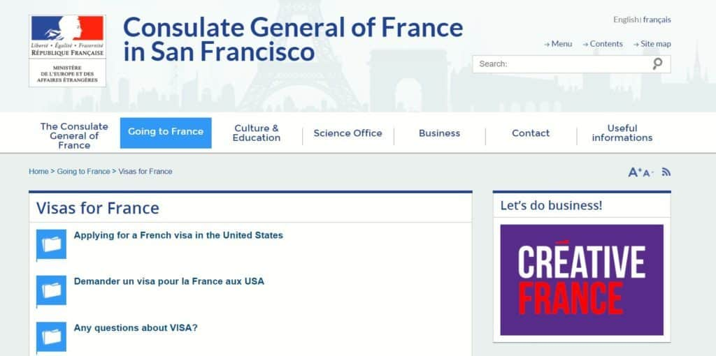 Applying for a French visa in the United States - San Francisco