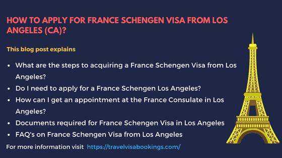 France Schengen Visa from Los Angeles (CA)