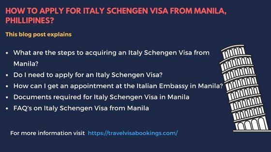 Italy Schengen visa from Manila